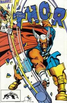 THE MIGHTY THOR # 337 1983: first App Of Beta Ray Bill and 1st App Of Lorelei