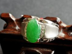 "Jadeite ring is made up of jadeite jewelry and gold which mean ""Jin Yu Liang Yuan"" in China. Its english meaning is ""golden luck and predestinated match"""