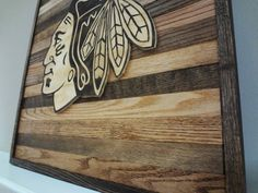 Chicago Blackhawks Wood Wall Art by FrangksWood on Etsy