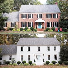 """I'm so freaking excited about our painted brick house that I literally cannot even. I am unable to even. And I'm a 36 year-old suburban mom, so that's saying something.""♥️ - Sherry Petersik of @younghouselove raving about their recent exterior home makeover featuring Romabio BioDomus I Masonry Paint. Visit their website to read their latest blog post and download episode #119 of their podcast for details. more info www.romabio.com/masonry"