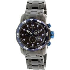 Invicta Men's Pro Diver 10374 Black Stainless-Steel Swiss Chronograph Watch