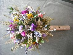 Dried flower bouquet... so adorable