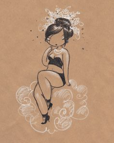 Burlesque Beauties by Stasia Burrington, via Behance