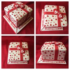 Ruby Wedding Anniversary Cake, made by me Elena Purton.