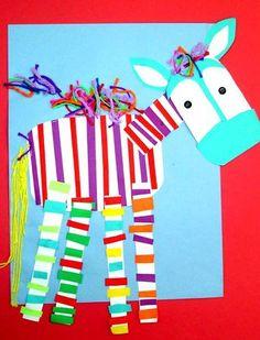 Zebra preparing paper