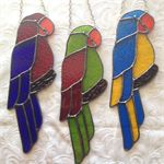 Parrot Stained Glass Suncatcher