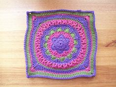Odyssey 12 inch Square - free crochet pattern by Letitia Sherriff. In Dk yarn and 4mm hook. Over 100 Ravelry projects.