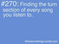 Little Dance Things!>>>> I always do this I listen to the song and think where can I do laterals to this>>>>>