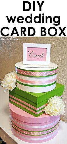 DIY Card Box Wedding : DIY Wedding Card Box