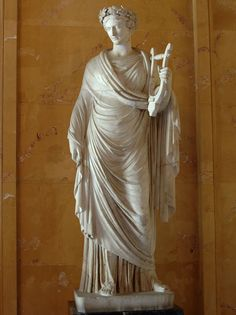Terpsichore. Marble. Roman, after a Greek model from the Praxiteles school. Inv. No. A 379. Saint Petersburg, The State Hermitage Museum