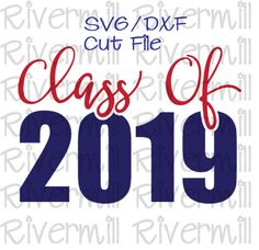 This Class of 2019 cut file comes with SVG and DXF formats to work with Silhouette Studio, Cricut Design Space, and other cutting software. Embroidery Fonts, Machine Embroidery, Embroidery Designs, Graduation Party Decor, Graduation Cookies, Graduation Ideas, Senior Shirts, Silhouette Cameo Projects, Silhouette Studio