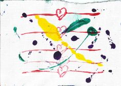 Unique Abstract TwoSided Painting Sloppy Heart No 9 by josephhkyle, $5.00