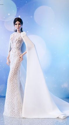 Barbie Wedding Dress, Barbie Dress, Wedding Dresses, Dolls Dolls, Doll Toys, Art Dolls, Fashion Royalty Dolls, Fashion Dolls, Barbie Fashion Designer