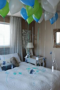 Anniversary Balloons - memories or pictures from your marriage attached to balloons
