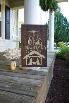 O Holy night pallet sign. Christmas decor Christmas pallet Christmas wood sign wooden wood decor O Holy Night rustic Christmas. Christmas Pallet Signs, 3d Christmas, Rustic Christmas, Christmas Projects, Christmas Decorations, Christmas Ideas, Christmas Plaques, Xmas, Christmas Things
