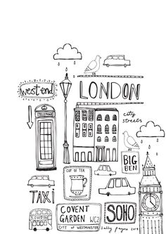 Illustration Londonb_w--sallypayne2014