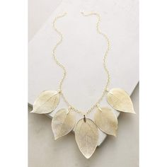La Soula Golden Leaf Bib Necklace ($148) ❤ liked on Polyvore featuring jewelry, necklaces, gold, golden necklace, bib necklace, leaves necklace, golden jewelry and leaves jewelry