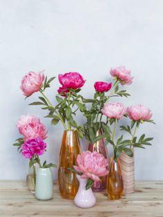 Peonies in the perfect vase Home Flowers, Happy Flowers, Small Flowers, Pretty Flowers, Colorful Flowers, Ikebana, Bonsai Plante, Lola Rose, Decoration Plante