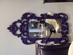 Purple Mirror, great for a little girls room!