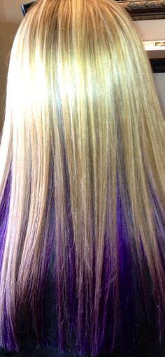 Purple weaved underneath blonde!! Gorgeous!!!