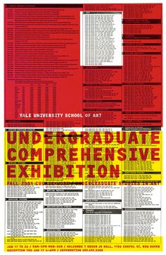 Yale Art Undergraduate Comprehensive Exhibition: Poster