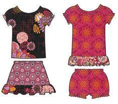 Little Girl's Dress & More Designer Pattern: Robert Kaufman Fabric Company Kwik Sew Patterns, Clothing Patterns, Dress Patterns, Little Girl Dresses, Little Girls, Girls Dresses, Sewing For Kids, Sewing Ideas, Sewing Projects