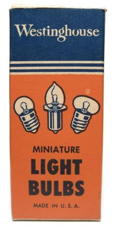 Miniature light bulbs, vintage packaging