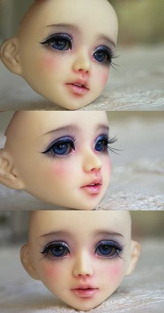Unoa Lusis by c a r o l i n e* Anime Dolls, Ooak Dolls, Blythe Dolls, Doll Eyes, Doll Face, Biscuit, Sculpting Tutorials, Doll Painting, Polymer Clay Dolls