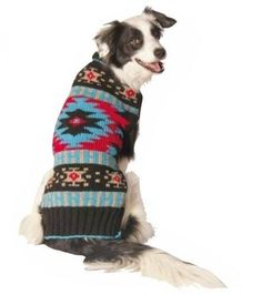 Chilly Dog Navajo Dog Sweater Large