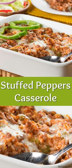 If you're looking for an even easier way to enjoy stuffed peppers, look no further than this Stuffed Peppers Casserole. It's got everything you love about stuffed peppers, but in the form of a hearty casserole! That means no hassle whatsoever - just lots of yummy eating! Rice Stuffed Peppers, Ground Chicken Stuffed Peppers, Stuffed Pepper Recipes, Mexican Stuffed Peppers, Cooking Steak, Cooking Oil, Cooking Salmon, Easy Cooking, Cooking Recipes