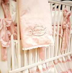 Love this bedding for a baby girl!