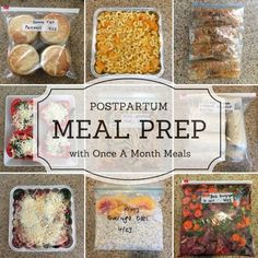 Postpartum Meal Preparation With Once A Month Meals