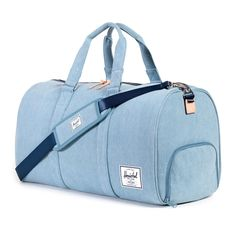 The Novel Duffle has a large, custom fabric-lined main compartment and offers two carrying options with double rolled handles and a shoulder strap. This stylish/functional bag is the perfect carry-on.
