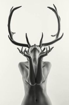 Buy Nude - Mihaela as Cerynitis (edition of 15), a Black & White on Paper by Laurence Winram from United Kingdom. It portrays: Nude, relevant to: beauty, deer, antlers, girl, myth, mythology, nude From a shoot in the studio the other day with my photographer friend Mihaela. We had no plan to shoot anything like this but I think that makes it all the more rewarding when you get a worthwhile result. I love working with arty people, they get what you are trying to do and add to it. She was t...