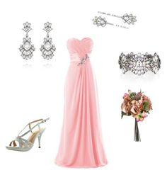 Bridesmaid with Chloe + Isabel by lilmo2005 on Polyvore featuring De Blossom and Chloe + Isabel