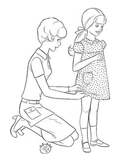 Coloring Book~Timey Tell - Bonnie Jones - Picasa Web Albums Free Kids Coloring Pages, Barbie Coloring Pages, Coloring Book Pages, Coloring Pages For Kids, Coloring Sheets, Vintage Coloring Books, Drawing Projects, Painted Books, Cute Little Girls