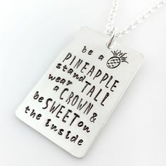 Be a Pineapple Quote Necklace #BeAPineapple