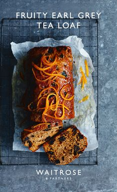 Make Mother's Day afternoon tea with our fruity earl grey loaf. Decorate with strips of sugared orange for a beautiful spring finish. Tap to see the full Waitrose & Partners recipe. Loaf Recipes, Baking Recipes, Cake Recipes, Fruit Loaf Recipe, Mother's Day Afternoon Tea, Afternoon Tea Recipes, Tea Loaf, Earl Grey Tea, Earl Grey Cake