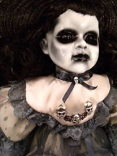 Shehariah 22 Horror Doll OOAK Hand painted and by DeceasedArt