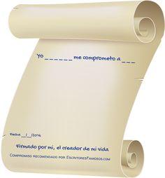 Escribamos nuestra vida sobre papel, para guiar nuestra mente y pies por las líneas escritas.