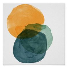 Shop Organic Abstract Watercolor Shapes Poster created by JuneJournal. Watercolor Circles, Watercolor Paintings Abstract, Watercolor Texture, Watercolor Print, Art Paintings, Abstract Art, Indian Paintings, Water Color Abstract, Landscape Paintings