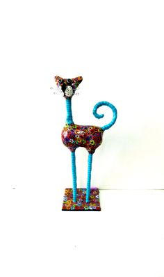 Cat #sculpture art doll cat  animal Collectibles by MIRAKRIS on Etsy