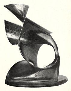 naum gabo sculptures | Naum Gabo, spiral construction (1944), brass and oxidized…
