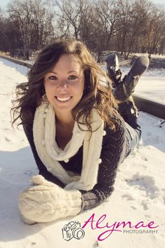 Had my first winter photo shoot with my neighbor for part 2 of her senior photos. (: