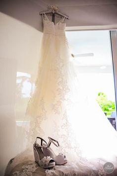 The bride prepares for wedding