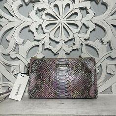 Brahmin Millie Clutch Wristlet Berry Opal Seville Leather | eBay Brahmin Handbags, Seville, Berry, Opal, Handmade Items, Leather, Vintage, Color, Women