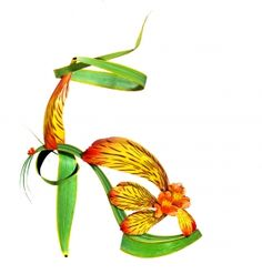 """Shoe-Fleur, A Footwear Fantasy  I would love these for RenFest"