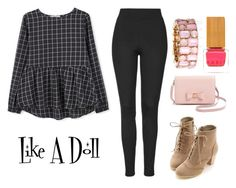 """""""Doll"""" by villa-thoj ❤ liked on Polyvore featuring MANGO, Miss Dora, Topshop, Ted Baker, Habit Cosmetics, women's clothing, women's fashion, women, female and woman"""
