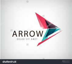 vector abstract arrow logo, icon isolated. Point logo, web abstract, direction, geometric triangles logo