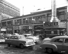 These black and white vintage photos show the street scenes of Minneapolis in the Old Images, Minneapolis Minnesota, Architecture Old, Twin Cities, Old Buildings, Best Memories, Back In The Day, Great Places, American History